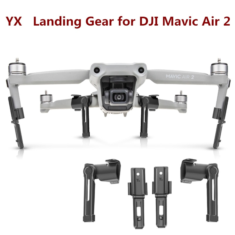 YX Para DJI Landing Engrenagens Mavic Air 2 37mm Heightened Suporte de Suporte a Extensão de Pernas de Pouso para Mavic Ar 2 drone Acessórios
