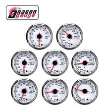 Tachymètre Boost 52mm, voltmètre Air-carburant Ratio eau, humidité, huile, presse dhuile jauge EGT changement de 7 couleurs pour voiture 12V