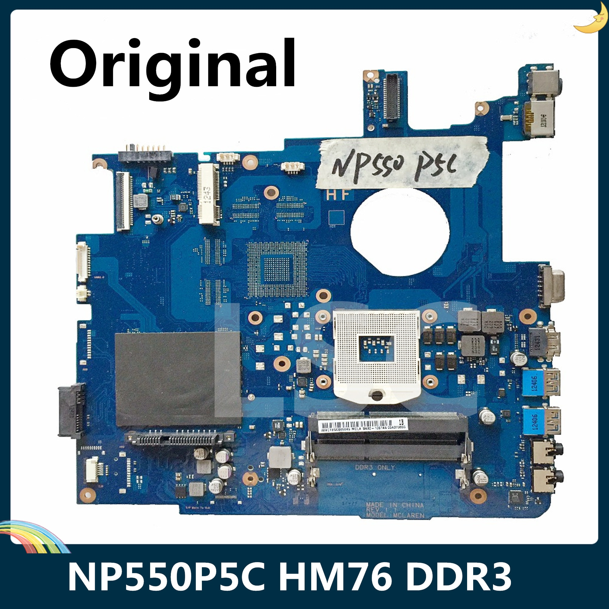 LSC Original para Samsung NP550P5C 550P5C placa base portátil BA92-10614A BA41-01900A HM76 DDR3