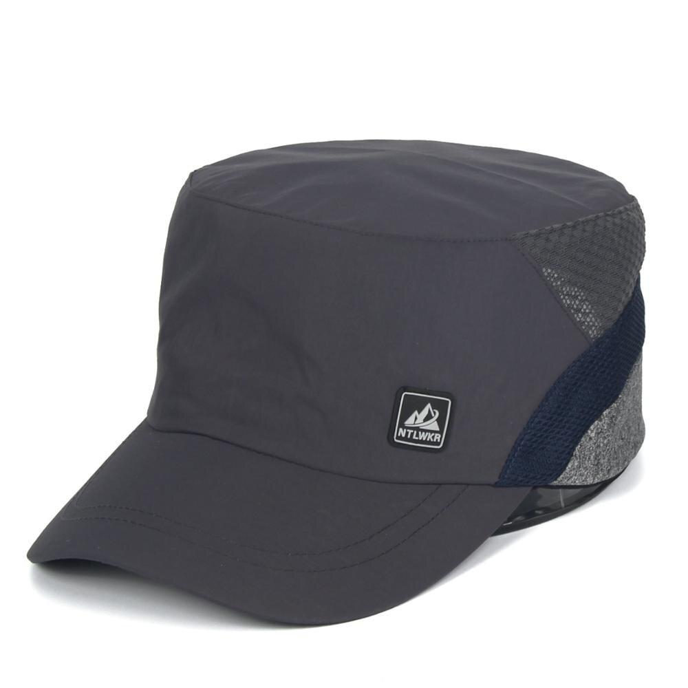 Gorra militar de secado rápido, gorras militares a prueba de agua, gorras de cadete, gorra plana, sombrero para el sol, sombrero de malla de moda, gorra de deporte al aire libre de verano ajustable