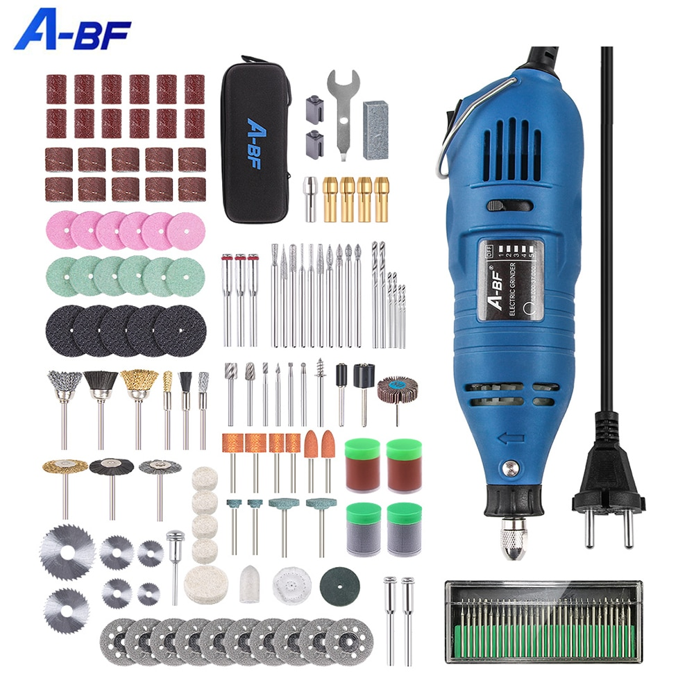 A-BF  Electric Drill Dremel Engraving Mini Drill Polishing Machine Variable Speed Rotary Tool With 161pcs Power Tools Accessorie
