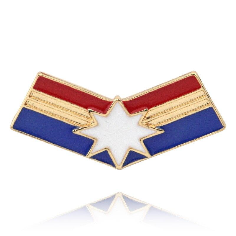 ZXMJ vengadores broche Endgame pin capitán Marvel Star pin con Distintivo de moda película periphery gran oferta para regalo de niños y hombres