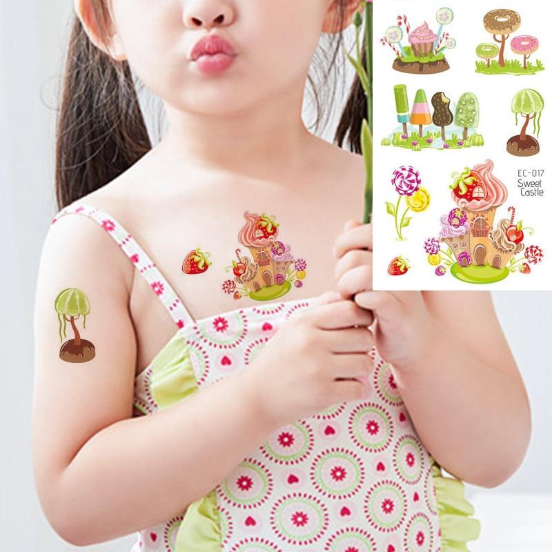 Tatuaje adhesivo temporal para niño y niña, diseño de fresa tatuaje arte corporal verano Popular tatuaje de imitación resistente al agua