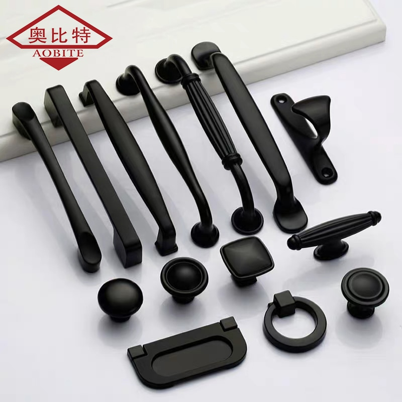 Puxadores de armário preto americano para móveis puxadores de armário e puxadores puxadores de cozinha puxadores de gaveta armário puxa armário
