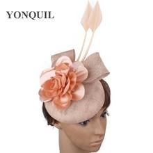 Belle fleur décor mariage fascinator chapeau pour mariée élégante mariage chapeaux femmes occasion mode chapeaux fantaisie cheveux accessoires