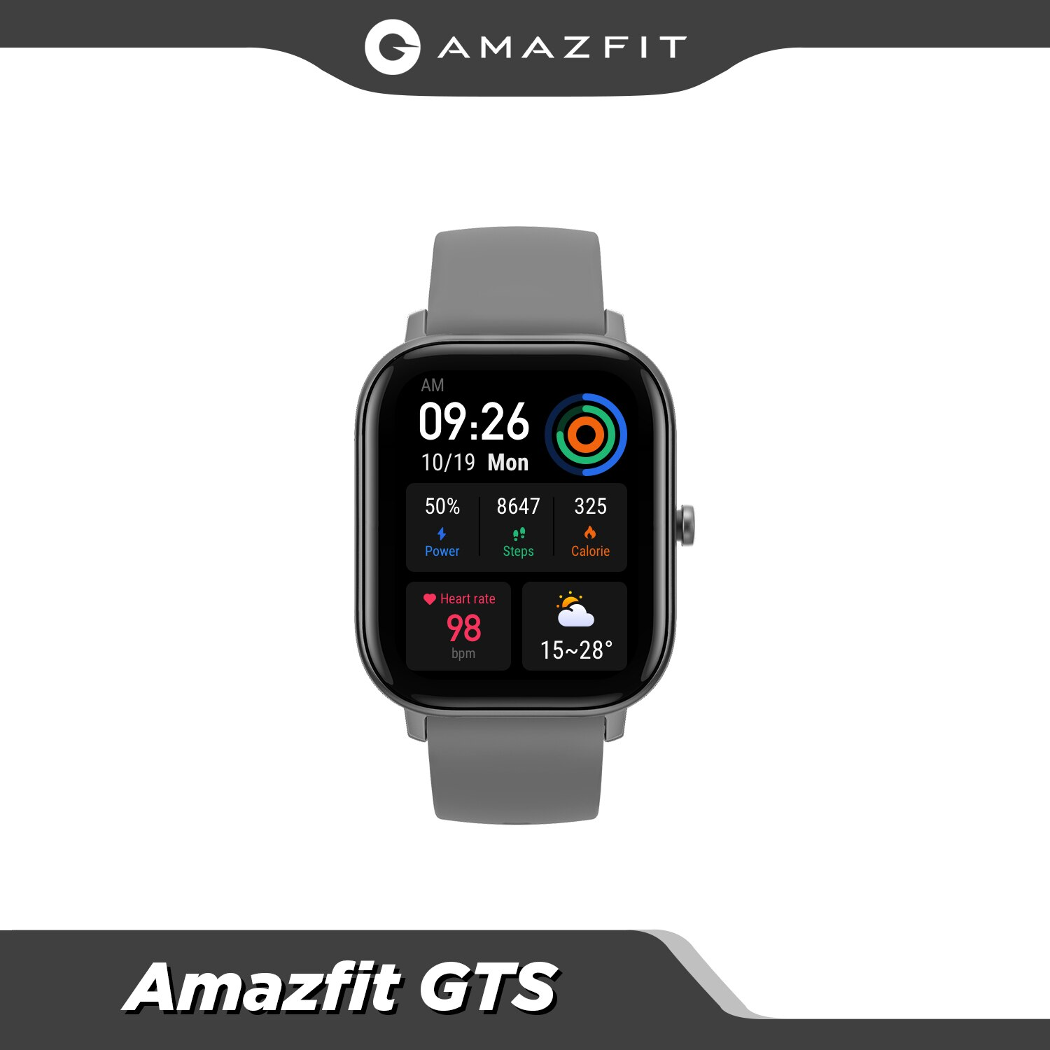 Global Amazfit GTS Smart Watch 5ATM Waterproof Smartwatch Long Battery GPS Music Control Leather SiliconStrap