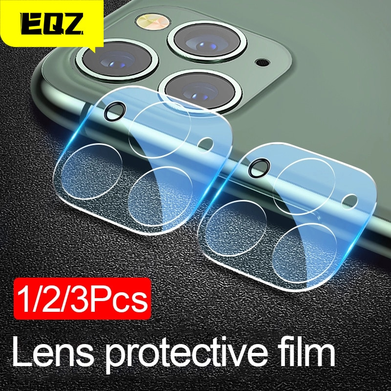 EQZ Camera Lens Tempered For iPhone 11 12 Pro XS Max X XR Screen Protector On For iPhone 11 7 8 6 6S