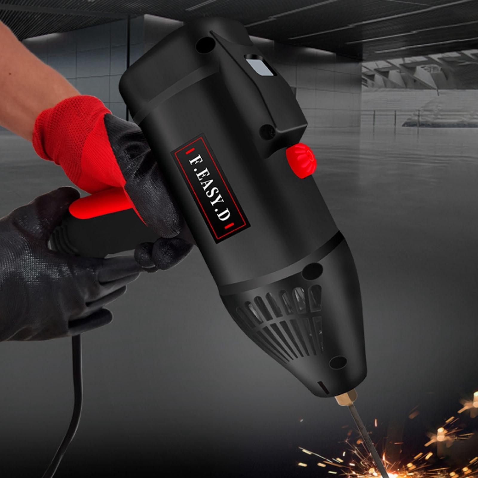 220V Handheld Electric Welding Machine Automatic Digital Intelligent Welding Equipment Home Current Thrust Adjustment Knob Black enlarge