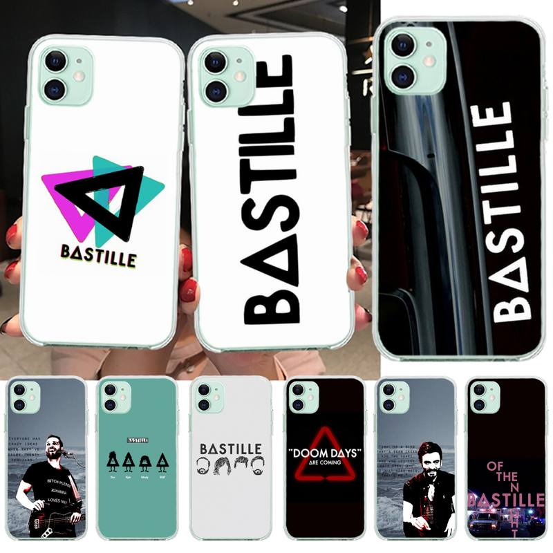 Genial la Bastilla banda personalizado foto funda de teléfono suave para iPhone 11 pro XS MAX 8 7 6 6S Plus X 5S SE 2020 XR cubierta