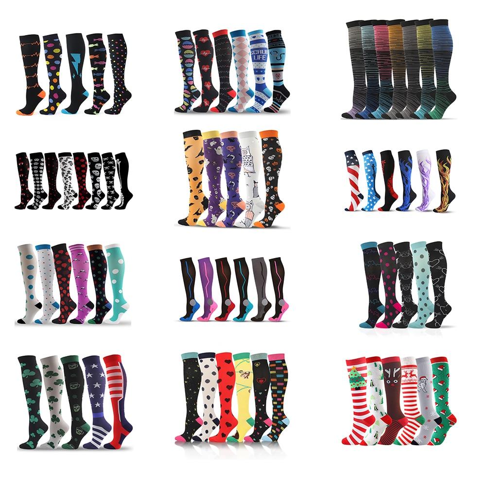 Dropship Compression Stockings Socks Men/women Pack Unisex Sports Socks Lot Prevent Varicose Veins Nurse Socks Football Running