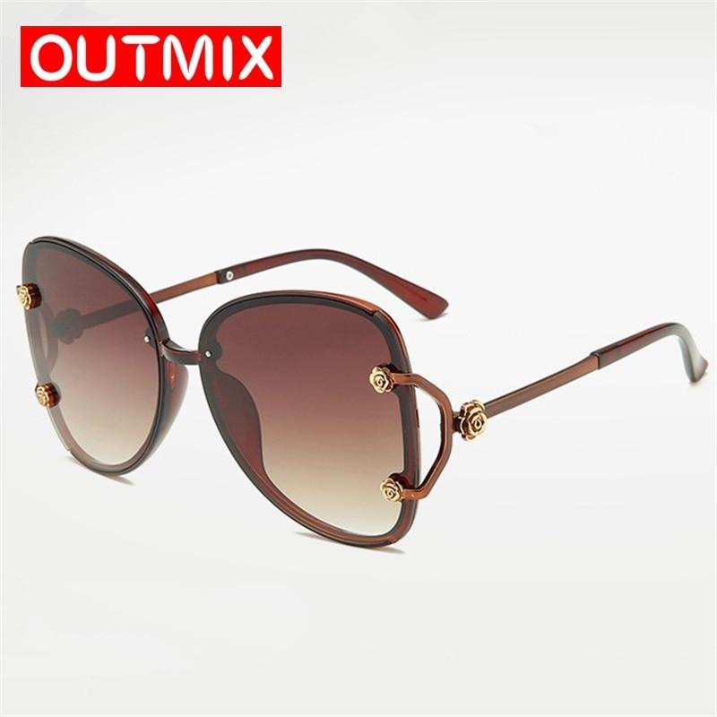 Gafas de sol polarizadas Retro gafas de sol de gran tamaño con marco de flores de diseñador para mujer para conducir 2020 gafas de sol de coche UV400