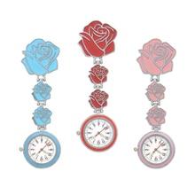 Nurse Watch Chest Pocket Watch Medical Rose Student Cute High-Quality Doctor Clock Brooch Nurse Fob