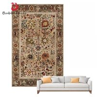 bubble kiss retro floral pattern carpets for home decoration thicken fluffy bedroom bedside plush floor non slip rugs customized
