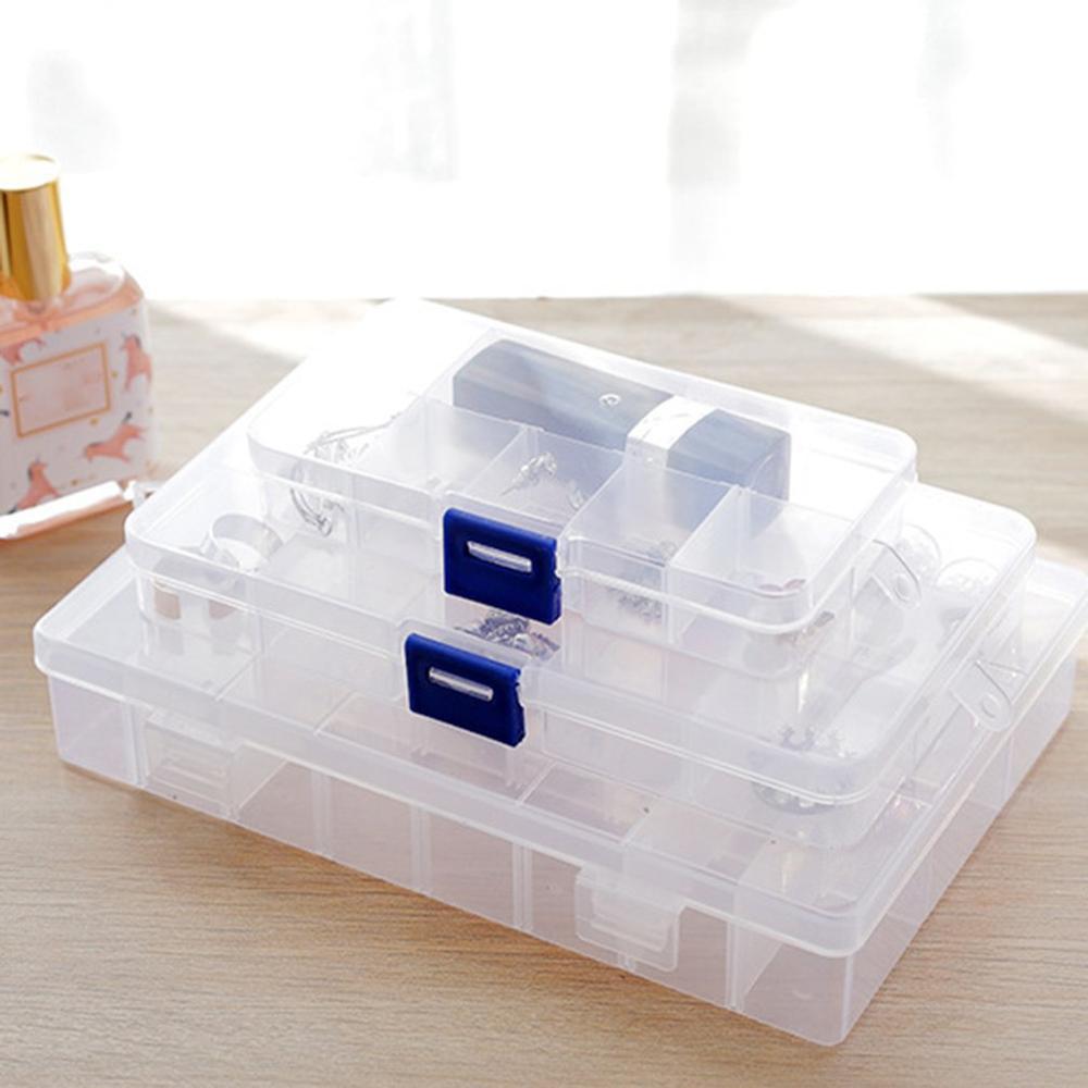 Multifuncional transparente de almacenamiento de joyas cesta caja de almacenamiento diversos organizador de juguetes caja de almacenamiento organizador del hogar