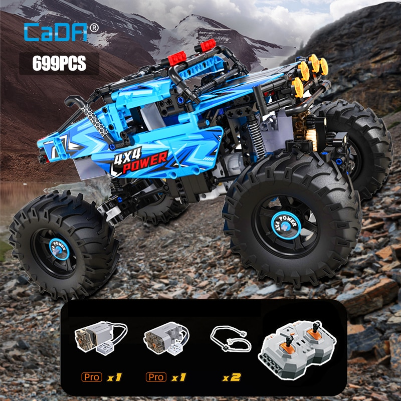 Cada 4WD Off-road Remote Control Car Building Blocks City Technical Racing Car RC Buggy Trucks SUV Pickup Bricks Toys for boys