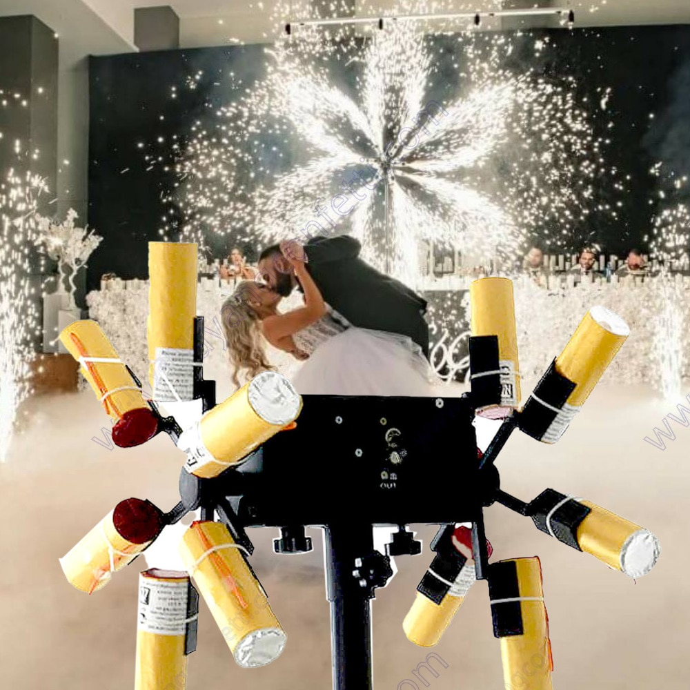 Firework Firing System Spark Machine Wedding Sparkler Pyrotechnic Indoor Cold Pyro Fountain Stage Concert Dj Double Wheel Remote