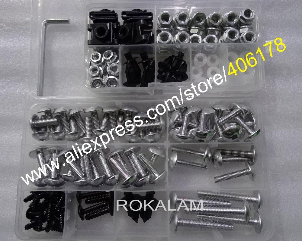Hot Sales,Universal,Motorbike Fairing Screws Kit,Nut Body Screws Fasteners,Motorcycle Accessories Body Fastener Clips Bolt Kit