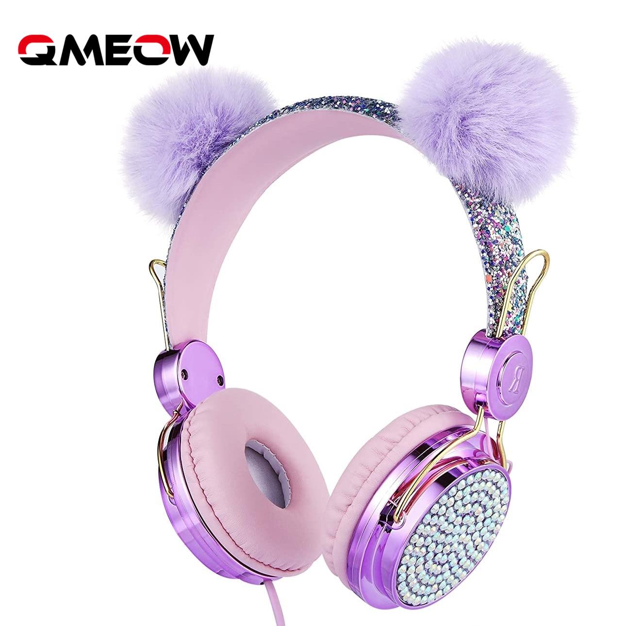 Crianças com Fio Fone de Ouvido com Microfone Estéreo do Computador do Telefone Presente da Menina Bonito Música Móvel Gamer Gato Fones 3.5mm