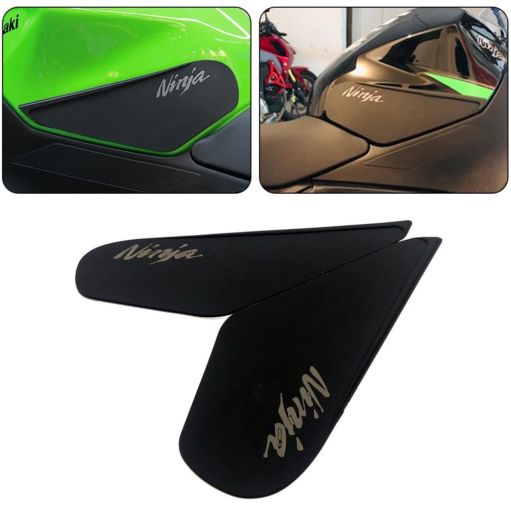Calcomanías adhesivas para motocicletas Kawasaki Ninja400 Ninja 400 2018, emblema 3D, tanque de combustible, almohadilla lateral de tracción, adhesivo para agarre de rodilla