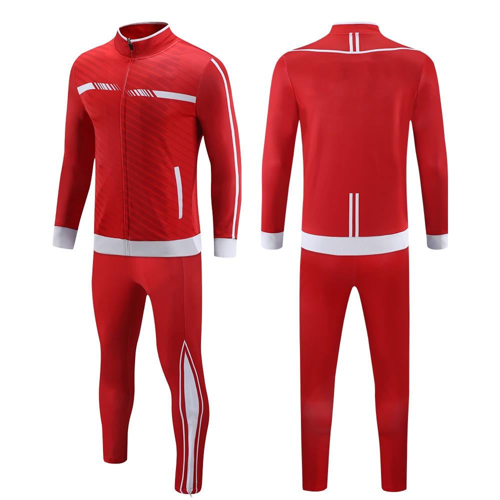 Chándal para trotar personalizado, para hombre, equipo, Club, jerséis, uniforme de fútbol, sublimación, chaqueta de fútbol, chándal
