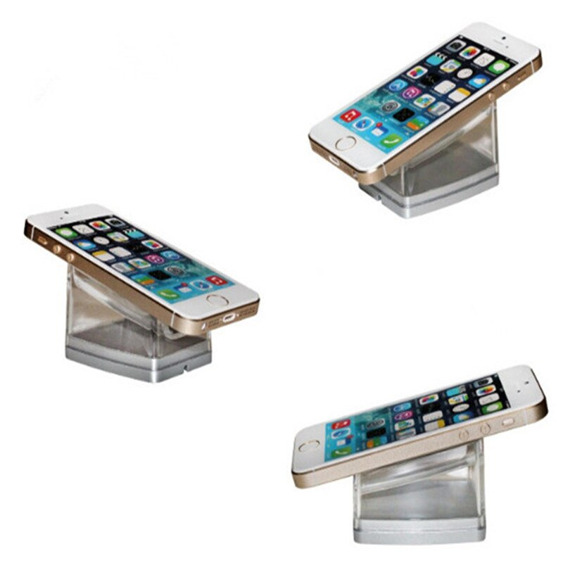 (3 set/lot) 10 port cell phone security display stand tablet burglar alarm sensor retail security acrylic stand for ios android enlarge