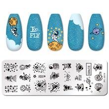 PICT YOU ongles estampage plaques magique géométrique Halloween noël amour rayé ligne Nail Art plaque pochoir plaque en acier inoxydable