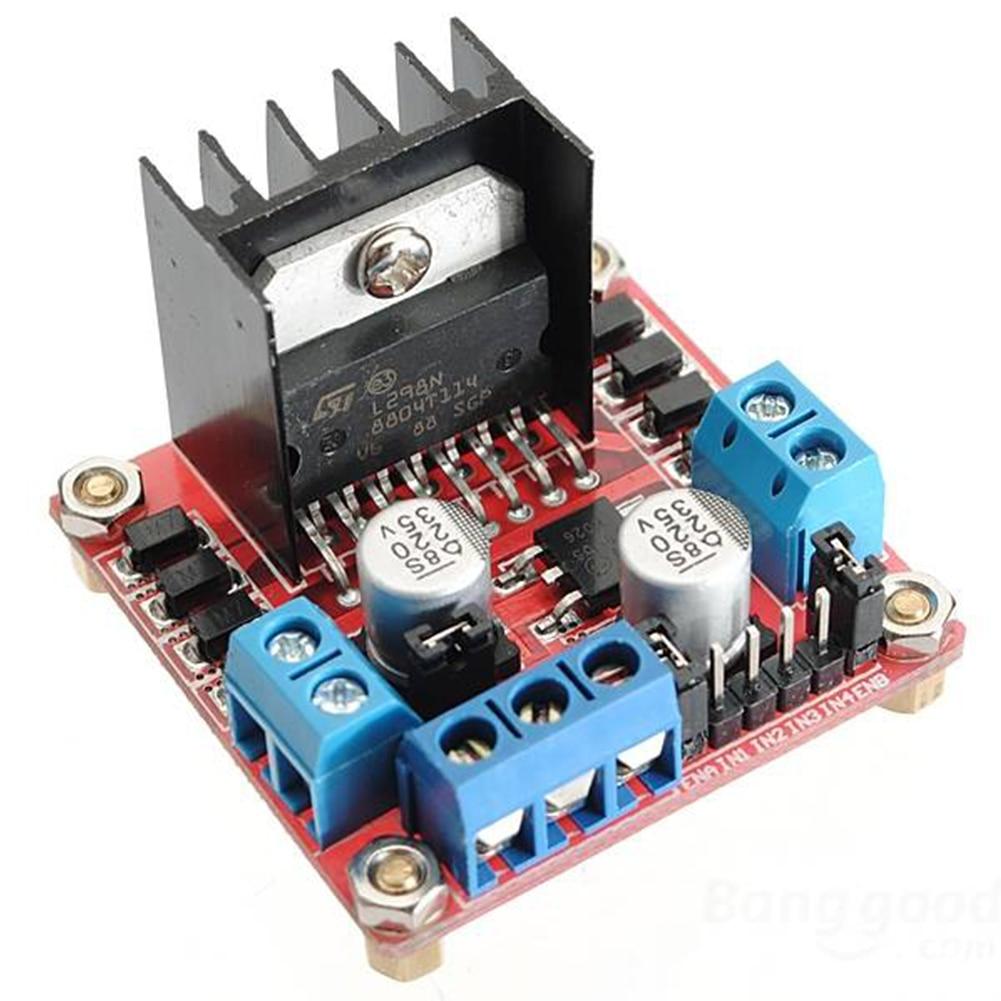 Çift H köprü DIY elektronik DC motor sürücü kartı dayanıklı profesyonel Robot akıllı kontrolör modülü Arduino için