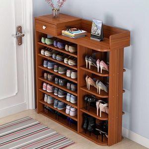 Shoe Rack Wood Easy Assembly Shoe Cabinet Hallway door Shoes Boots Storage Closet Home Furniture Shoerack Space-saving Shoe Rack