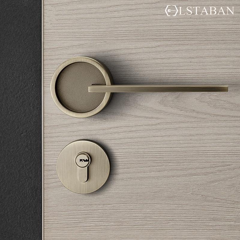 LSTABAN غرفة نوم الأمريكية مقبض الباب قفل دخول الأمن انقسام قفل صامت الأساسية الباب الأثاث داخلي مقبض الباب lockset