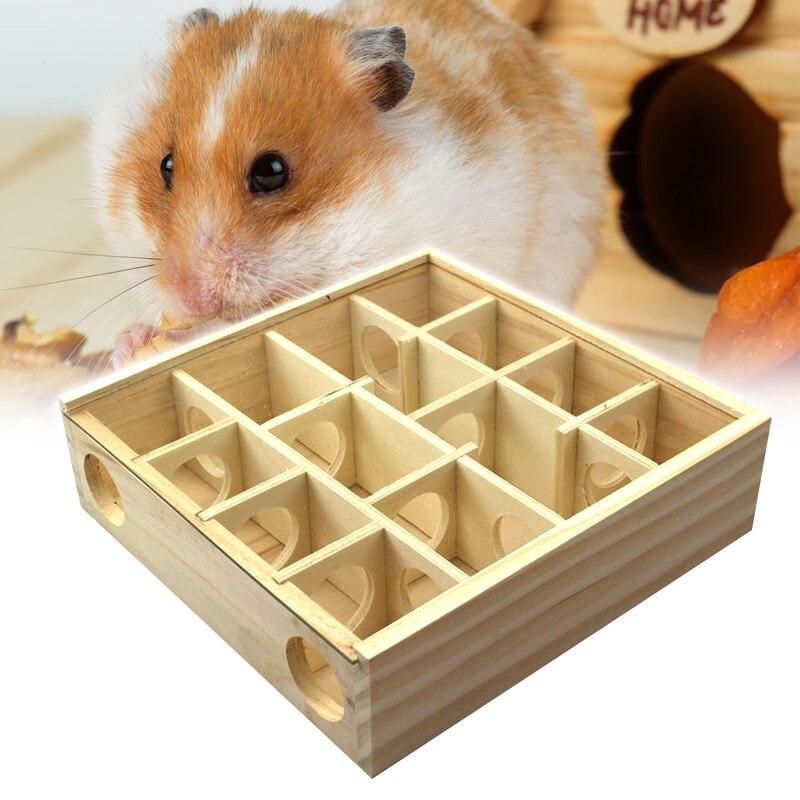 Animais de Estimação Hamster de Madeira Labirintos Túnel Gerbil Rato Ratos Pequenos Animais Brincar Brinquedos Ser88