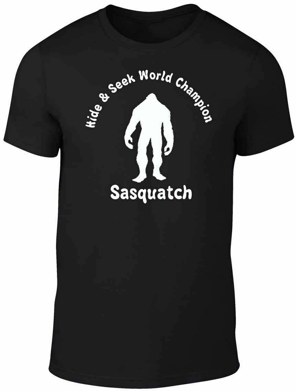 Sasquatch Hide & Seek Champ Tops camiseta divertida bigfoot monstruo cómic leyenda Unisex hombres mujeres camiseta