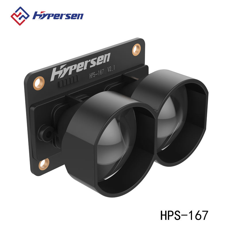 Sensor de Prevenção de Obstáculos Hipersen Único Ponto Variando Tof 35 m Módulo Lidar Hps-167
