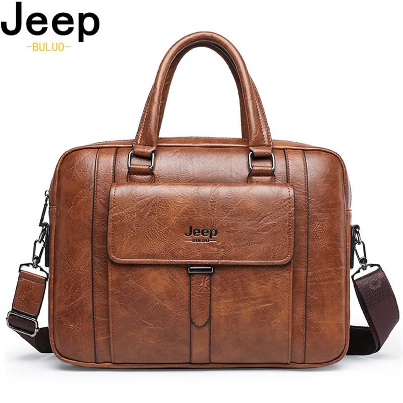 Мужской портфель для ноутбука JEEP BULUO, оранжевый портфель из спилковой кожи, деловая сумка для офиса, все сезоны, 2019