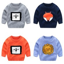 Boys Cartoon Sweaters Kids Spring Wear New Style Jacket Sweater  Baby Warm Coat Kids Knitted Top