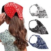 triangle hair bands women girls summer bohemian print headbands vintage cross turban bandage bandanas hairbands hair accessories