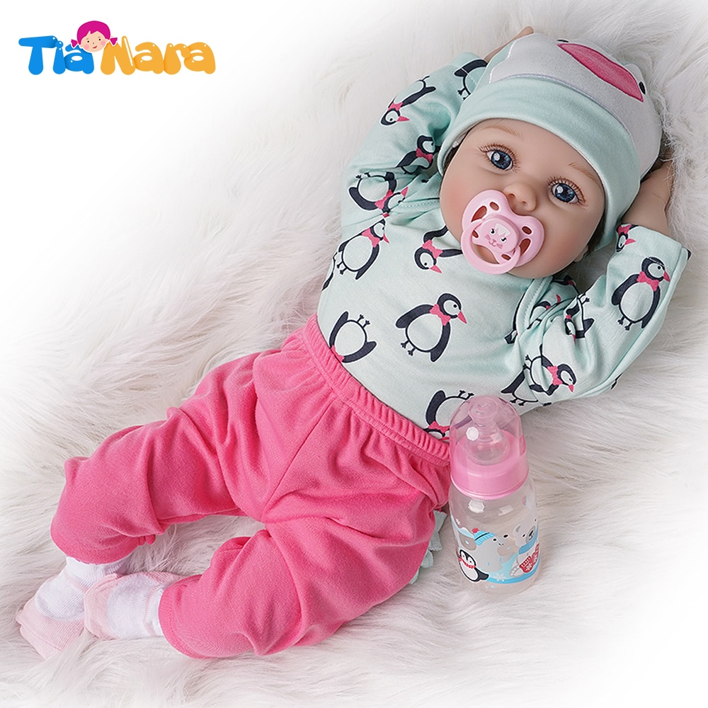 55cm Reborn Baby Doll Child Birthday Gifts Special Girl Toy Cute Kids Doll Alive Silicone Vinyl Ligh