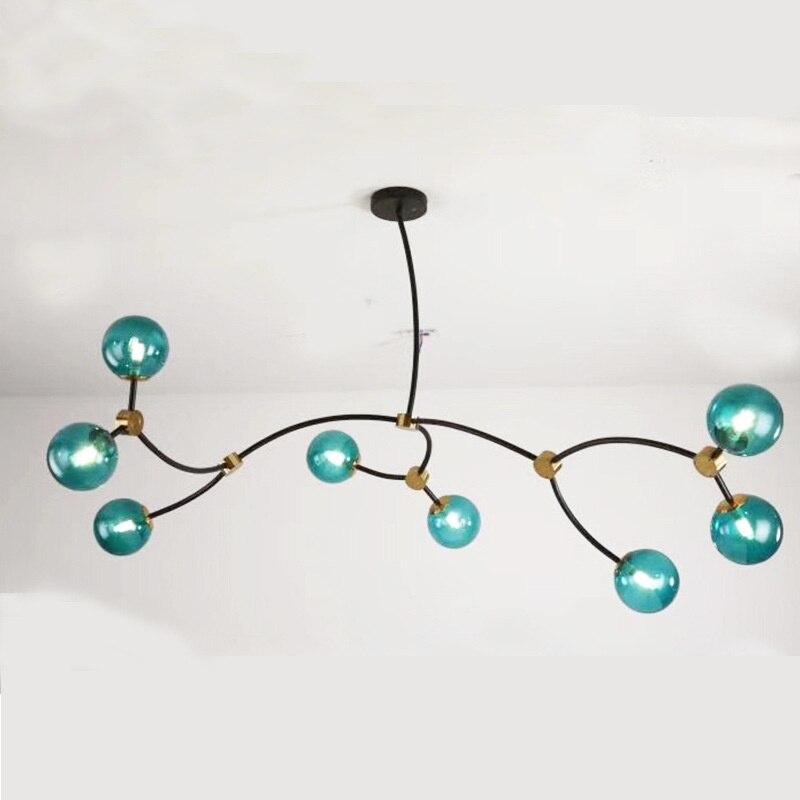 الحديثة led كرة زجاجية lumaria pendente قلادة ضوء إضاءة داخلية داخلي المنزل قلادة مصباح غرفة الطعام ضوء مطعم