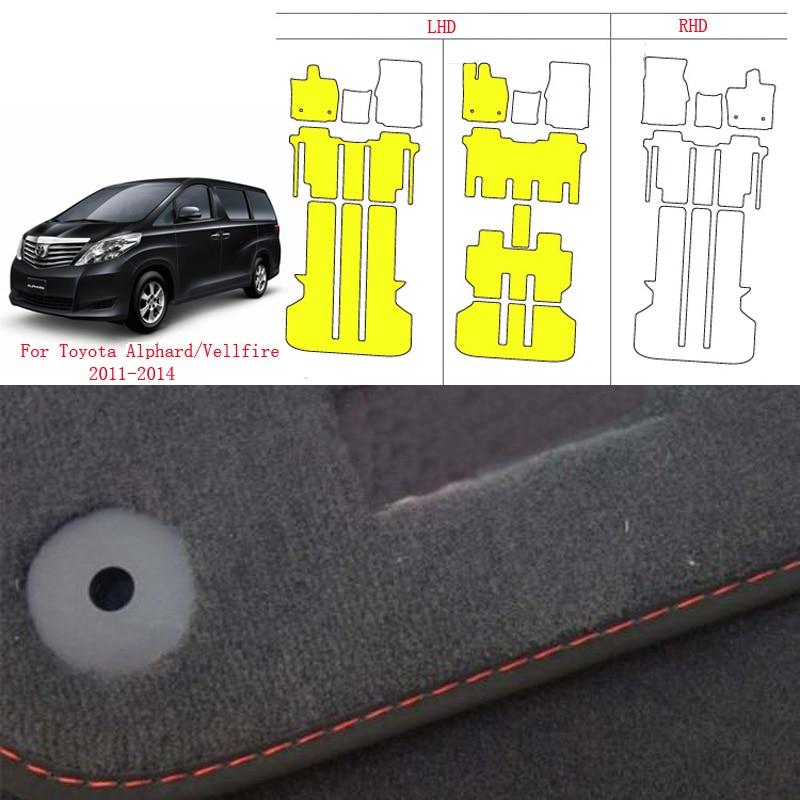 Alfombras de nailon suave antideslizantes y resistentes para el suelo de RHD Toyota Alphard/Velfire 2011-2014