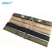 2021 Army Style Tactical Men's Belt Quick Release Easy Buckle Canvas Waistband Outdoor Designer Camouflage Military Belt 130CM