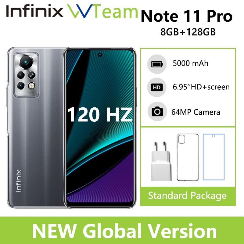Смартфон Infinix Note 11 Pro, 8 + 128 ГБ, 6,95 '', Helio G96, 120 Гц, 64 мп, 33 Вт, аккумулятор 5000