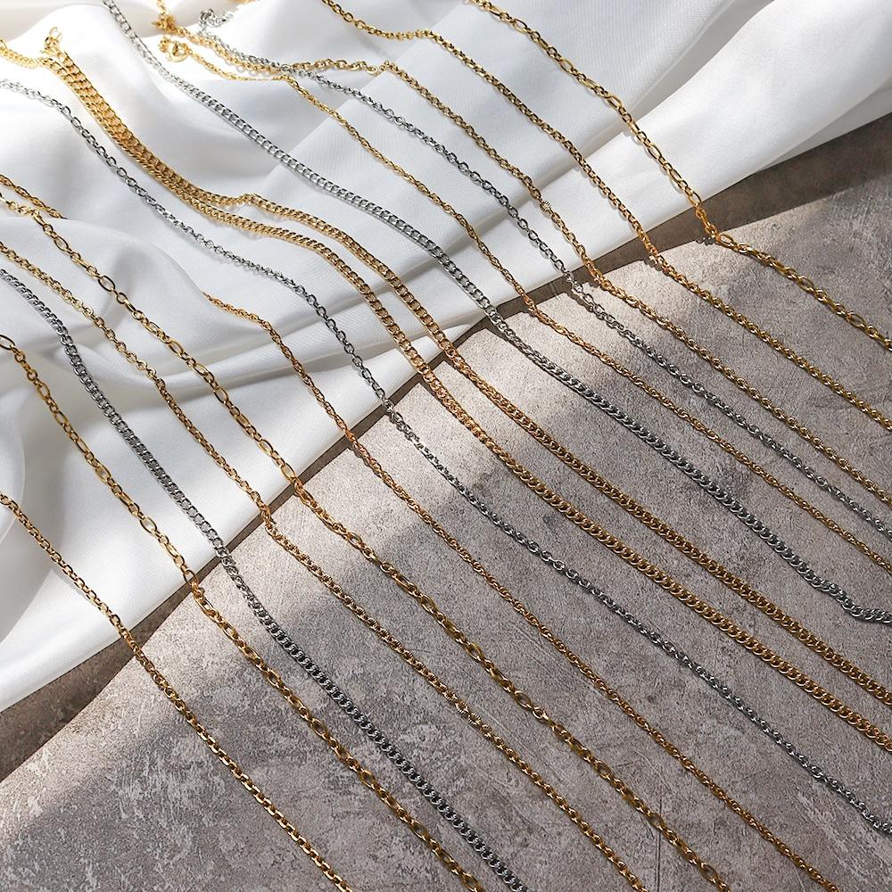 Качество-Мужчины-ювелирные-изделия-ожерелья-diy-ожерелье-из-бисера-18k-позолоченные-чистая-ювелирные-украшения-для-женщин-цепочка-из-нержаве