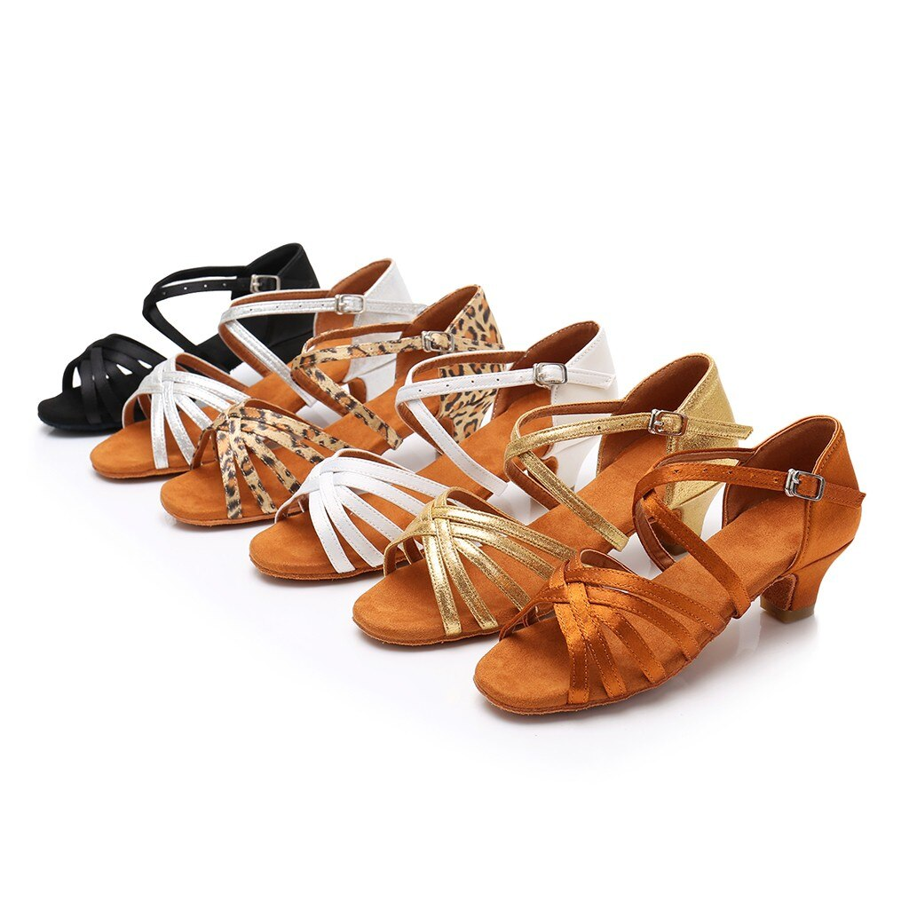 ¡Novedad de 2020! Zapatos de salón de baile para bebés, niñas, princesas, baile de salón, Tango latino, sandalias, zapato Infantil, zapatos para baile para niños