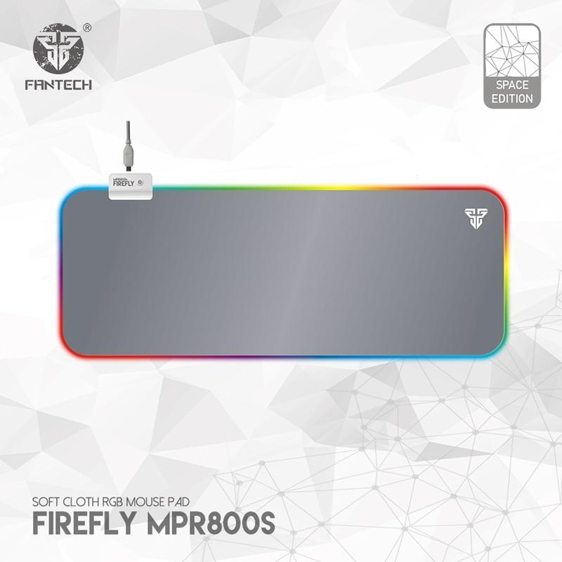 FANTECH-لوحة ماوس MPR800S كبيرة ، RGB ، احترافية ، 80X30X0.04cm ، مع حافة قفل ، للاعبين LOL FPS ، أبيض