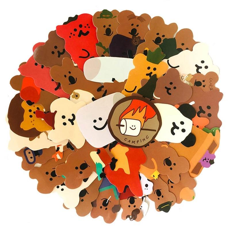 34-unids-set-mezcla-kawaii-koala-papeleria-pegatinas-para-portatil-equipaje-de-viaje-diy-scrapbooking-diario-albumes-de-fotos-decoracion