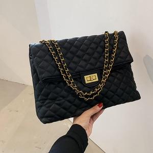 Luxury Designer Shoulder Bags for Women 2021 New Pu Leather Chains Large Capacity Crossbody Tote Bag Female Diamond Lattice
