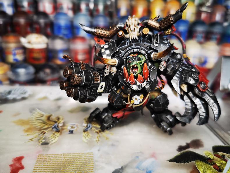 Modelo para juegos 40K Ghazghkull Mag Uruk Thraka Orcs Waaagh Boss ya pintado con colorido sólo 1 Uds