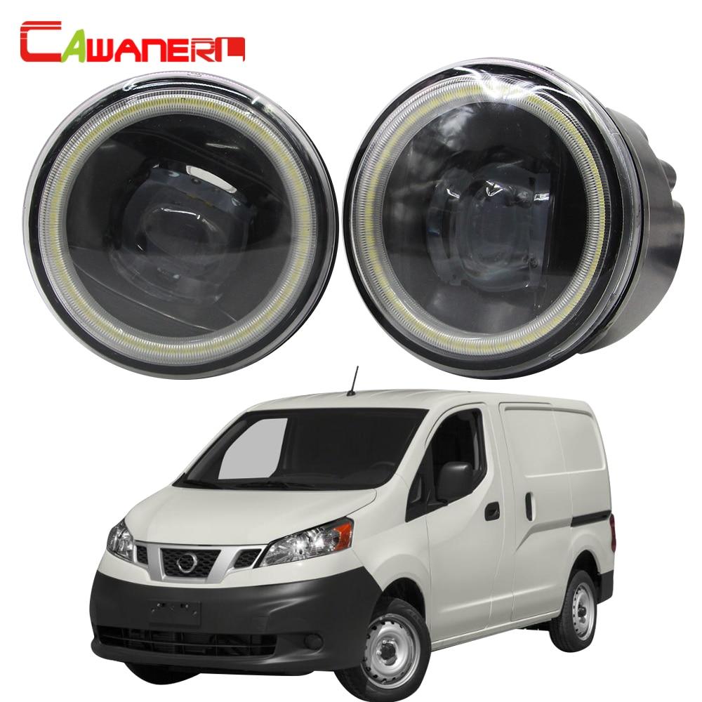 Cawanerl para Nissan NV200 coche H11 bombilla LED Kit de luz antiniebla Ojo de Ángel DRL luz corriente diurna 12V 12V 2010, 2011, 2012, 2013, 2014, 2015