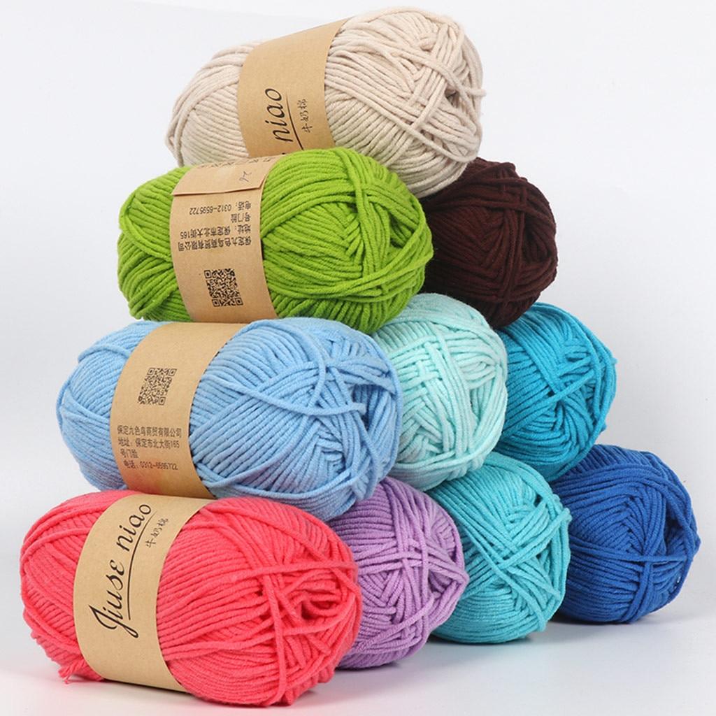 Smooth Cotton Wool 5 Strands Of Milk Cotton Diy Wool Hat Scarf clothes Yarn Line Childrens Line Needles crochet DIY Rag doll