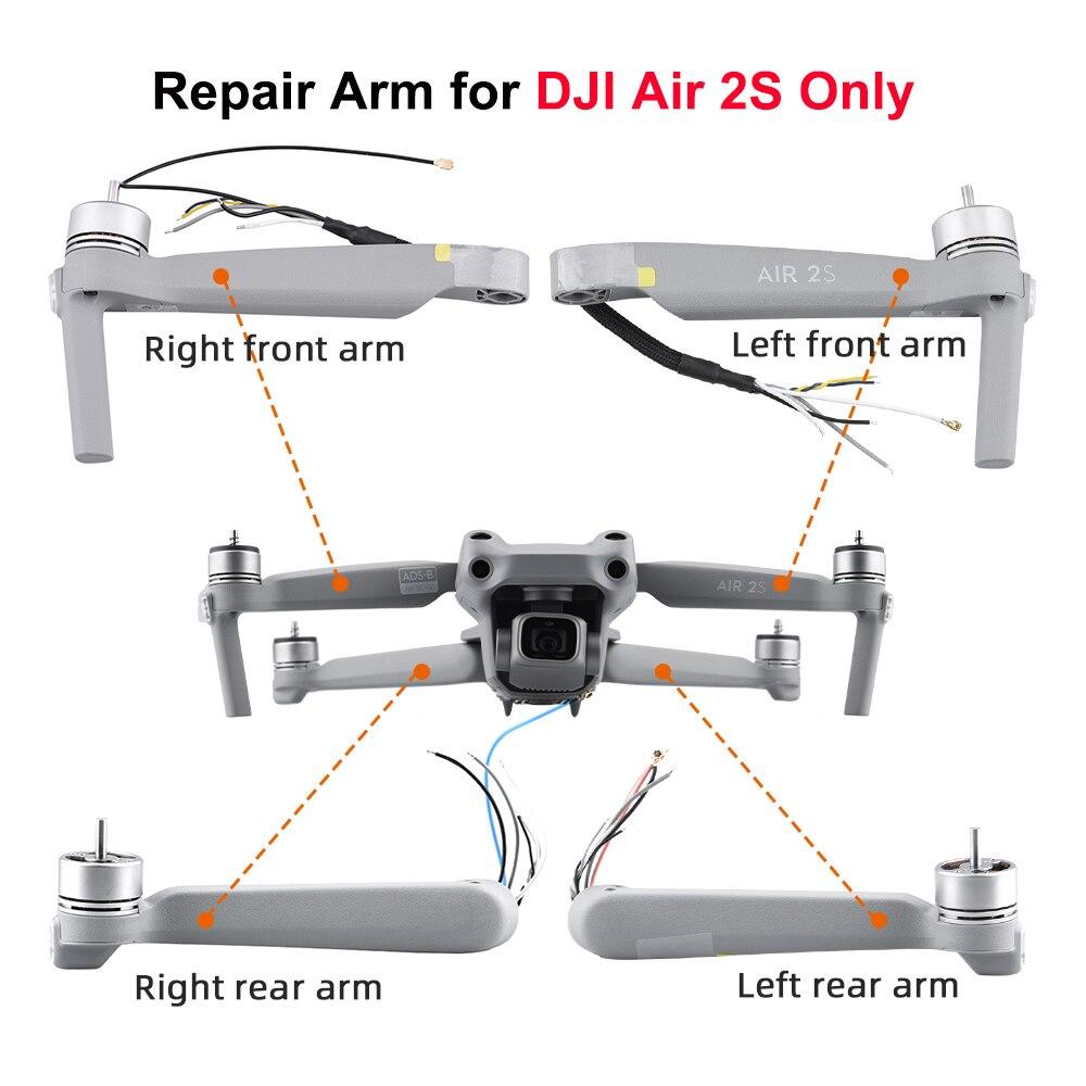 استبدال قطع الغيار إصلاح ل DJI Air 2S العلامة التجارية الجديدة الأصلي الأسلحة اليسار الأيمن الجبهة الخلفية الذراع ل Air 2S الملحقات