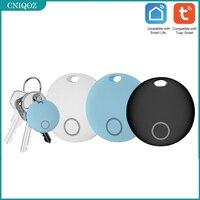 TUYA 1pcs Anti-lost Alarm Smart Tag Wireless Bluetooth Tracker Child Wallet Key Finder Locator Waterproof With 2 Battery